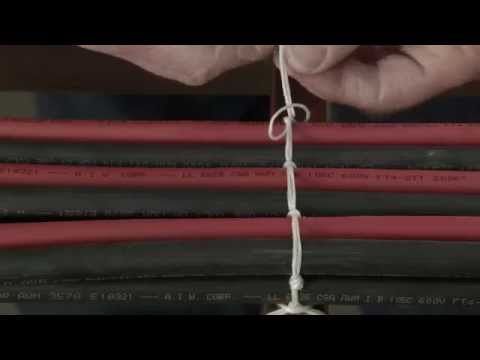 Instructional cable lacing sewing a Kansas City Stitch Second Cable Layer