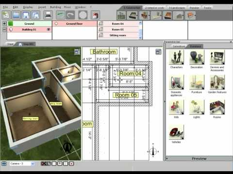 3d home design by livecad tutorials 02 creating rooms youtube. Black Bedroom Furniture Sets. Home Design Ideas