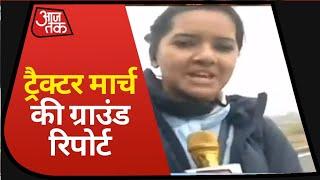 Farmers Protest: किसानों की ट्रैक्टर रैली शुरू, Delhi-Haryana के बीच KMP एक्सप्रेसवे पर उतरे