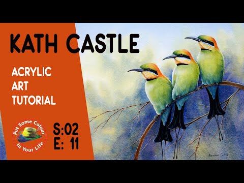 Fine art tips with a Free Acrylic Art Tutorial with Kath Castle on Colour In Your Life