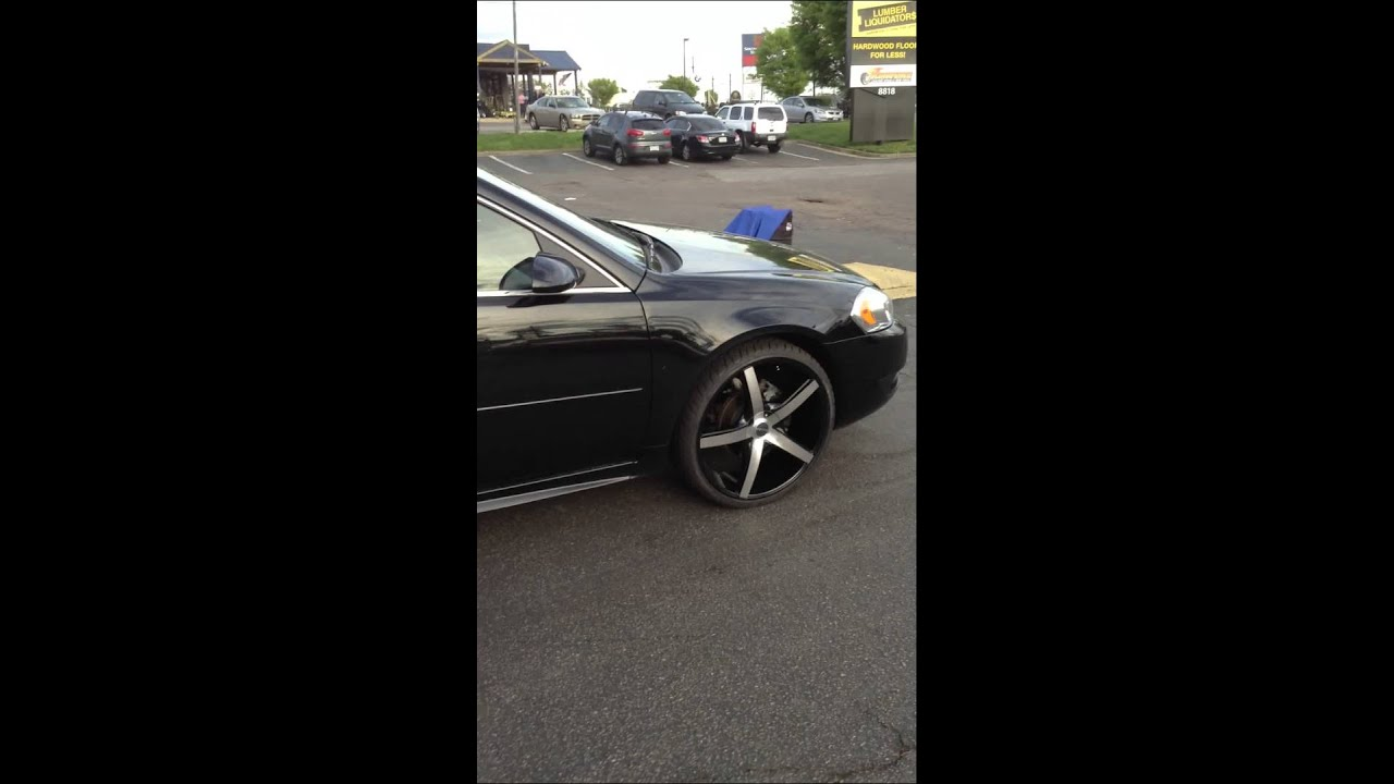 2013 chevy impala on 22 akuza rims at rimtyme richmond va. Black Bedroom Furniture Sets. Home Design Ideas