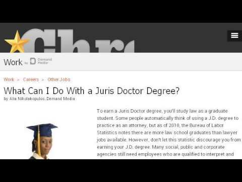 Careers With A Juris Doctor