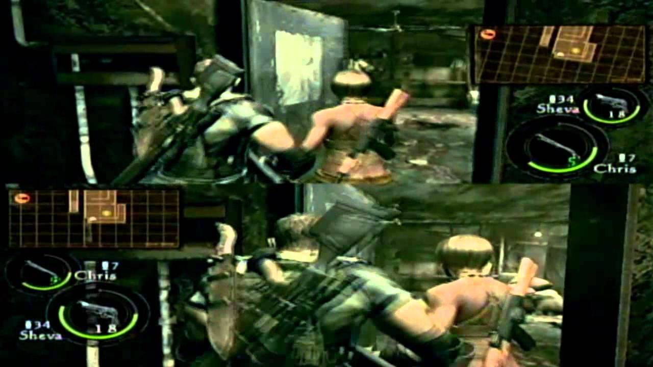 Resident Evil 5 Splitscreen Co Op Gameplay Ps3 Youtube