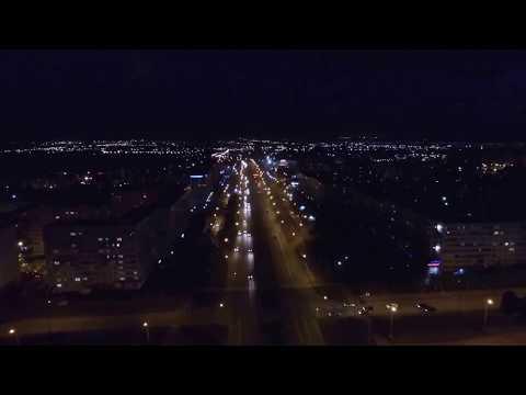 Аэросъемка, Набережные Челны ,Вечер, Кафе Уют - Автостанция (15 км )