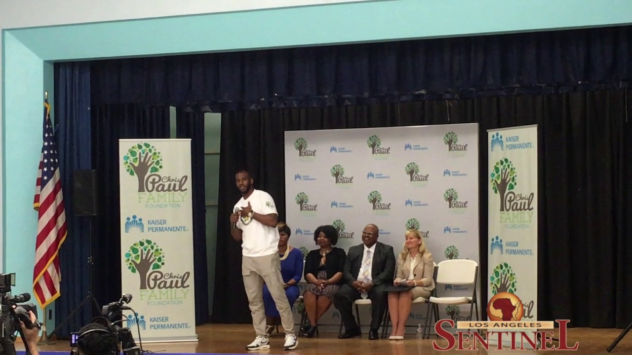 Chris Paul and Kaiser Unveil Computer Labs in Watts Schools