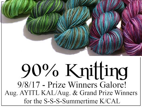 90% Knitting - All the Prize Winners!