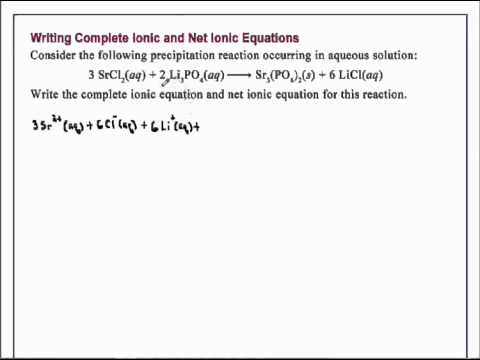 Worksheet Net Ionic Equations Worksheet writing complete ionic and net equations chemistry youtube chemistry