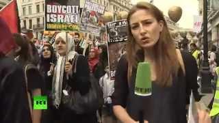Тысячи людей вышли на улицы Лондона, чтобы поддержать палестинцев