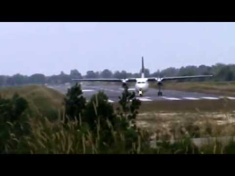 Transnusa Air Fokker 50 Take Off At Dumai