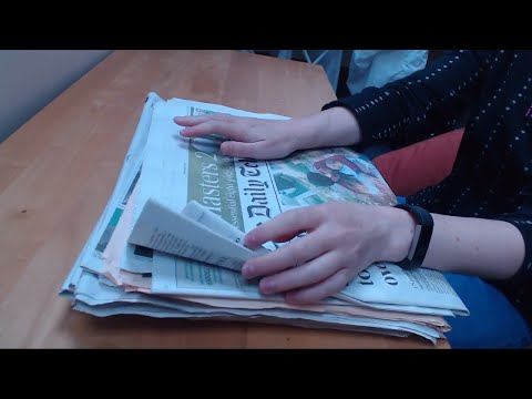ASMR Newspaper Page Turning (No Talking) Intoxicating Sounds Sleep Help Relaxation