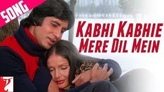 Kabhi Kabhi Mere Dil Mein (Male) Song | Kabhi Kabhie | Amitabh Bachchan | Rakhee