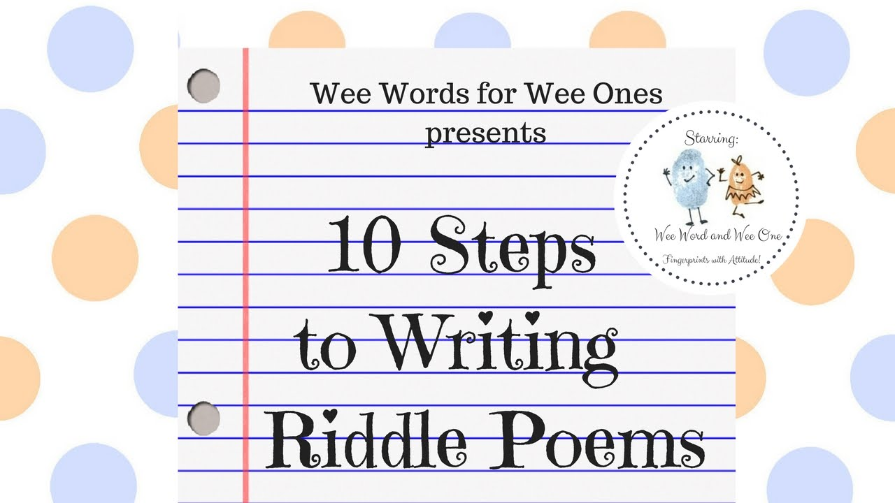 Wee Words for Wee Ones: 28 Steps to Writing Riddle Poems