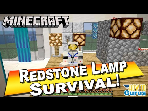 How To Make A Minecraft Redstone Lamp Design With Switch Redstone Lamp Crafting Recipe Tutorial Youtube