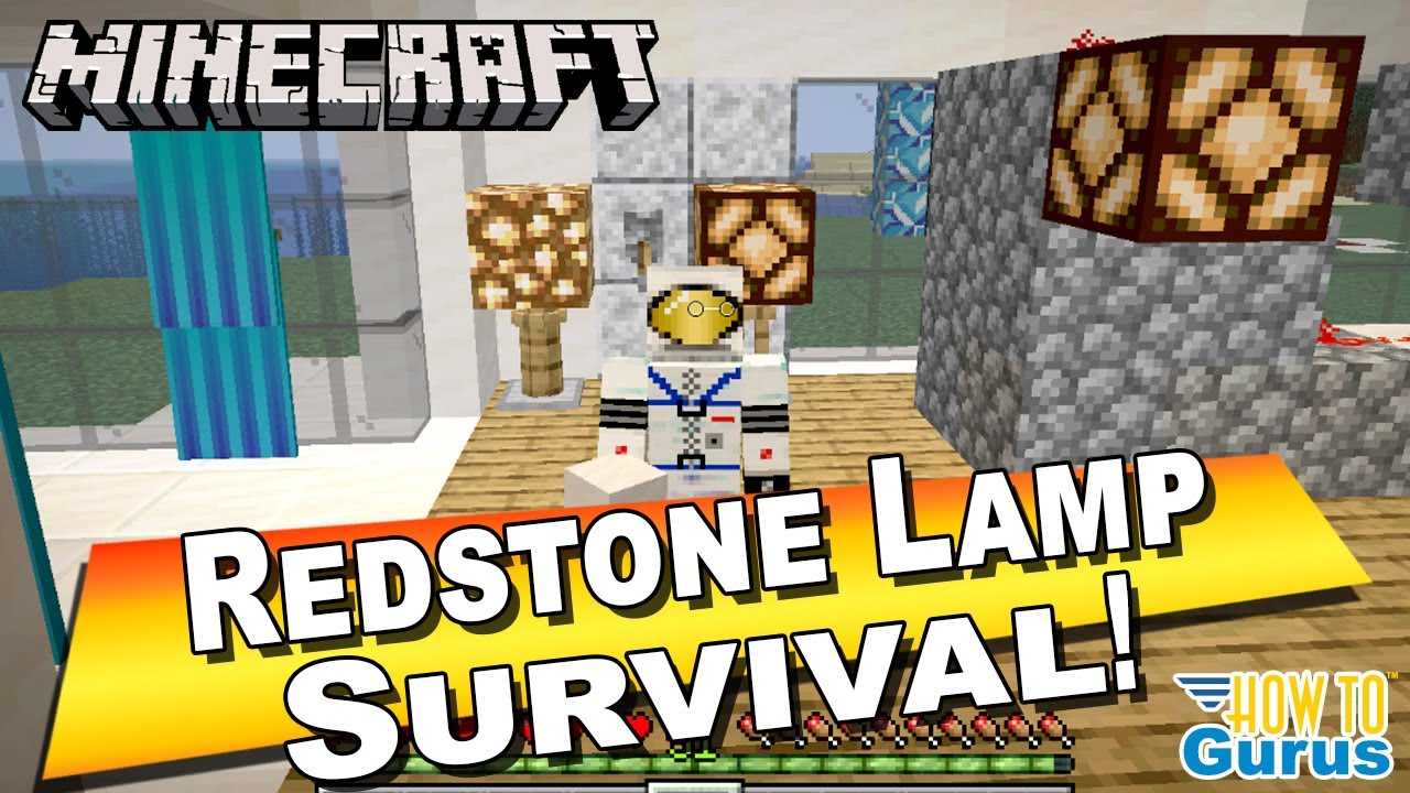 How to Make a Minecraft Redstone Lamp design with Switch
