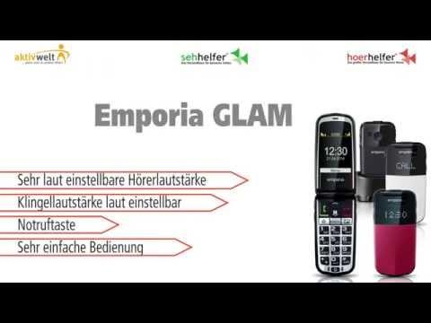Seniorenhandy Emporia GLAM Schwarz / Weiß / Rot