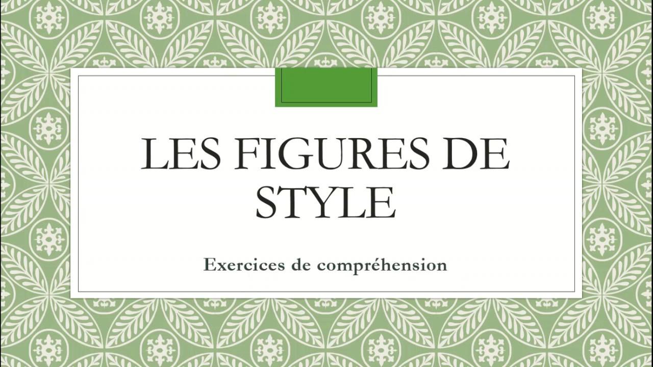Les figures de style - 5 Exercices de Comprehension - YouTube