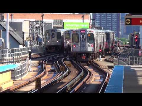 CTA - Red Line Rear View & Purple Line Pictures (2014 & 2016)