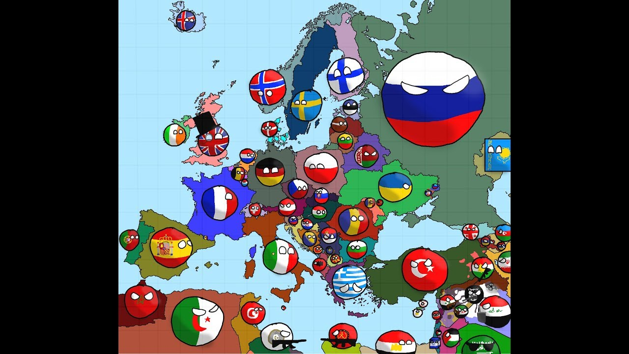 Polandball Map Of The World 2017.Speedart 2017 Europe Map In Countryballs Youtube
