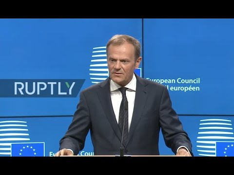 LIVE: Tusk holds press conference as UK moves to trigger Article 50