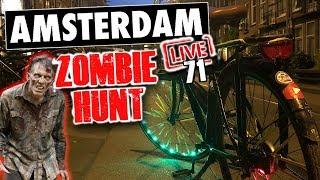 Amsterdam IRL (Saturday Midnight Cycling Stream) ZOMBIE ALERT!