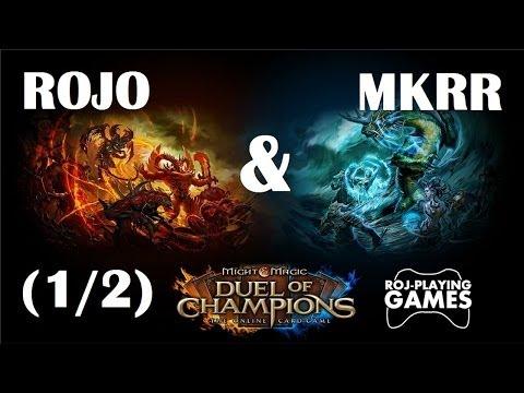Rojo & Mkrr w Might & Magic: Duel of Champions (1/2) KILL ME !!! (Roj-Playing Games!)