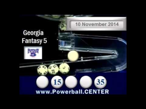 Georgia Fantasy 5 Results 10 November 2014 Ga Lottery powerball center - YouTube
