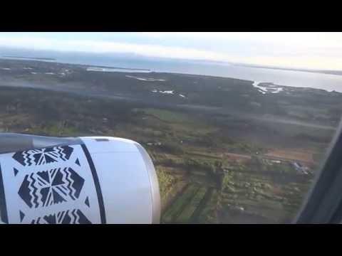 Landing in Fiji Nadi International Airport
