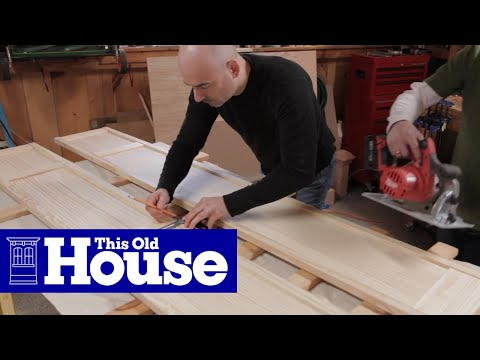 How to Build a Wall-Hung TV Cabinet - This Old House - YouTube