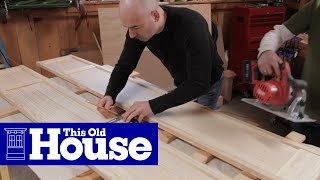 How To Build A Wall Hung Tv Cabinet | This Old House