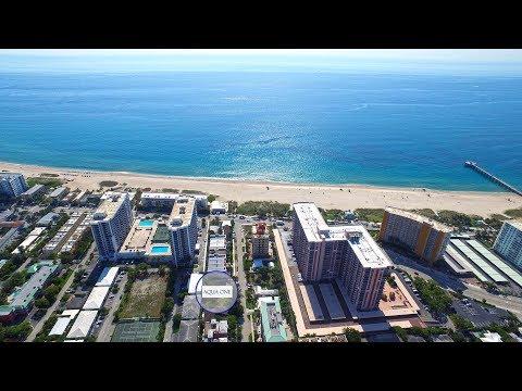 Aqua One Pompano Beach Luxury Condominiums via Drone