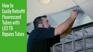 how to easily retrofit fluorescent tubes with led t8 bypass tubes