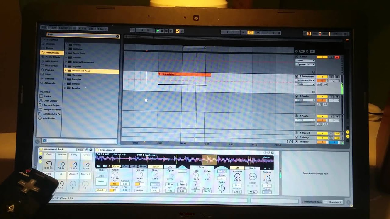 WiiMote MIDI controller on Ableton Live