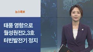 """[사이드 뉴스] 월성원전 """"태풍영향으로 2, …"""