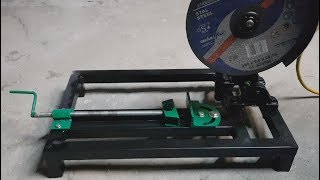 Metal cutter with angle grinder DIY