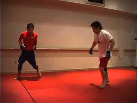 Caol Uno training for UFC  with Eiji Mitsuoka at Las Vegas