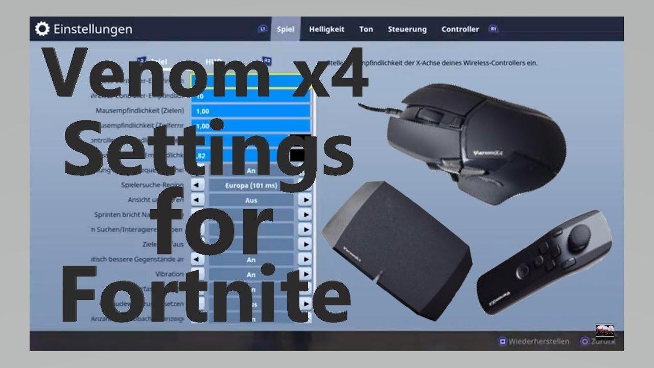 fortnite battle royal venom x 4 settings venom x 4 einstellungen - fortnite mausempfindlichkeit