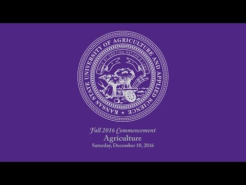 K-State Commencement - Fall 2016 | Agriculture