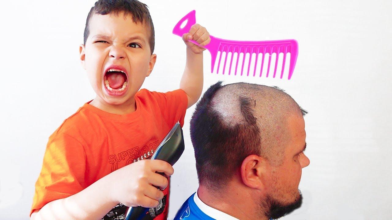 Егорка и папа и история про волосы