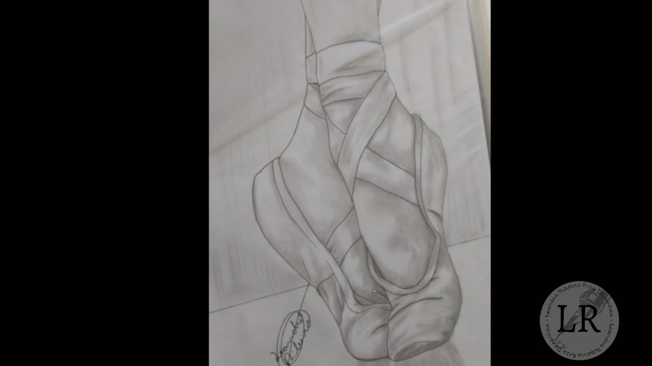 Sapatilha Bailarina Speed Drawing Danca Bale How To Draw