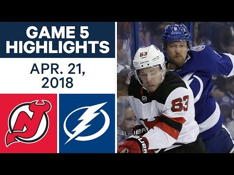 NHL Highlights | Devils vs. Lightning, Game 5 - Apr. 21, 2018