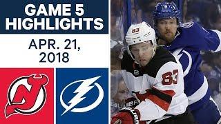 NHL Highlights | Devils vs. Lightning, Game 5 - Apr. 21, 2018
