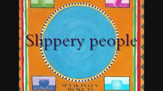 Talking Heads   Speaking in tongues #4   Slippery people