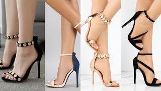 Open toe straps ankle wrap high heel sandal collections for girls  /high heel ankle wrap sandals