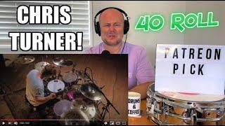 Drum Teacher Reacts: CHRIS TURNER - 40 Roll (Instrumental) OFFICIAL STUDIO VIDEO   WOW!