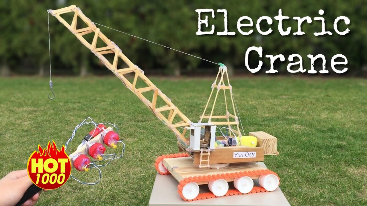 HOT 1000 How to Make an Electric Crane with Remote Control ...