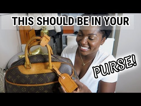 8 THINGS SUCCESSFUL WOMEN HAVE IN THEIR PURSE | LOUIS VUITTON DEAUVILLE | WHAT'S IN MY PURSE