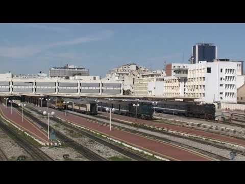 Tunisia - Loco hauled passenger trains at Tunis Ville