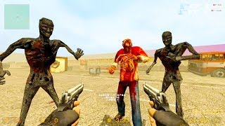 Counter Strike Source - Zombie Horde Mod Online Gameplay on Gasdump map