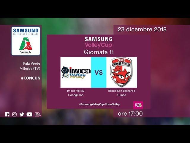 Conegliano - Cuneo   Speciale   11^ Giornata   Samsung Volley Cup 2018/19