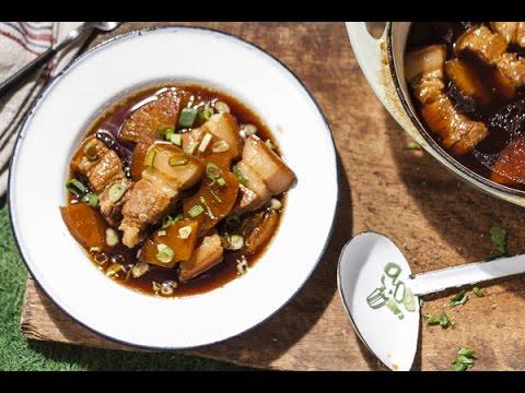 【龜甲萬】香滷鳳梨豬五花,戶外料理這樣做